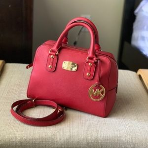 MICHAEL KORS Red logo Crossbody/handBag
